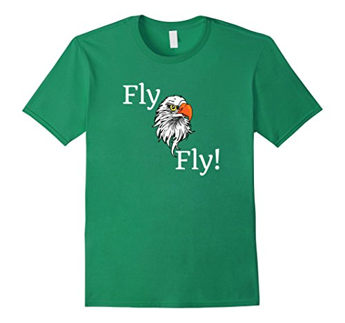 Mens Fly Eagle Fly Philly Super Fan Pride T Shirt Large Kelly Green
