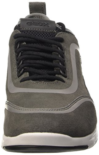 Geox U Xunday 2fit B, Sandalias con Plataforma para Hombre Gris (Grey)