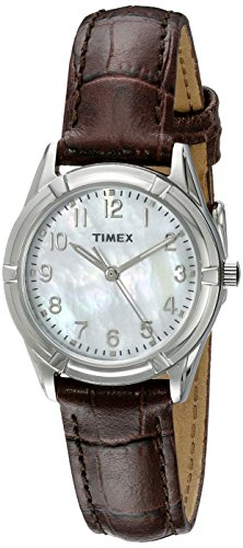 Timex Women's TW2P76300 Easton Avenue Brown Croco Pattern Leather Strap - Croco Leather Band Brown