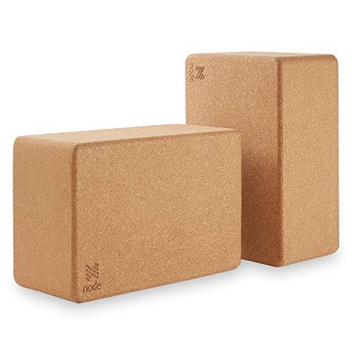 Node (Set of 2) Natural Cork Yoga Blocks