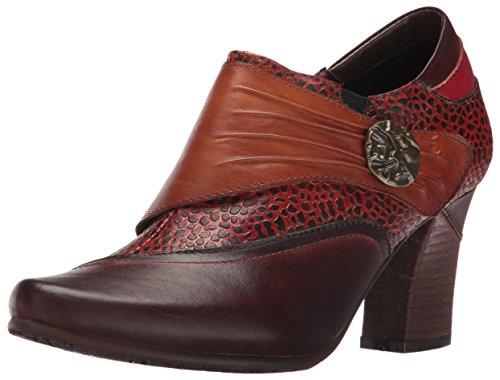 L'Artiste by Spring Step Women's Fia Dress Pump, Dark Brown/Multi, 36 EU/5.5-6 M US (Brown Multi Leather Pumps)
