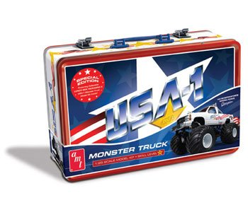AMT USA-1 4x4 Monster Pickup Truck Model Car Kit and Lunchbox Special Edition Tin (Edition Model Plastic)
