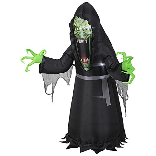 [HALLOWEEN INFLATABLE PHOTOREAL 5' EVIL WITCH MONSTER BY GEMMY] (Halloween Yard)