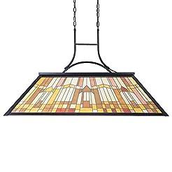 Wellmet Tiffany-Style Pool Table Light, ...