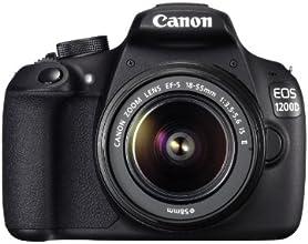 "Canon EOS 1200D - Cámara réflex digital de 18 Mp (pantalla 3"", estabilizador óptico, kit con objetivo EF-S 18-55mm f/3.5 IS II), negro"