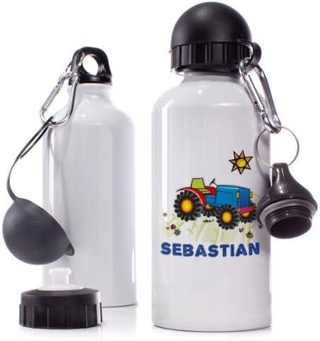 Sebastian Traktor Name Striefchen/® Trinkflasche Motiv