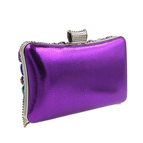de Purple Formel amp; Fête Femme KYS Travail Sac soirée Bureau Décontracté Polyester Mariage Soirée wEPOAE