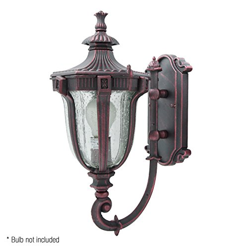 eTopLighting Le Eclairage Collection Terra-cotta Finish Exterior Outdoor Lantern Light with Frost Glass, Wall APL1099 (Wall Terra Cotta Fixtures)