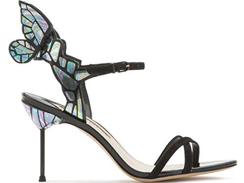 Hylm Squisita High-end Personalizzato Scarpe Sandali Delle Signore Per Vip Farfalla Tacchi Alati Scarpe Da Sposa Scarpe Da Festa Nero