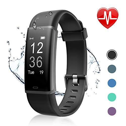 Letsfit Fitness Tracker, Activity Tracker Watch with HR Monitor, Step Counter, Pedometer Watch, Calorie Counter Smart Watch for Kids Women and Men ()