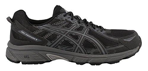 ASICS Mens Gel-Venture 6 Running Shoe, Black/Phantom/Mid Grey, 10.5 4E US from ASICS