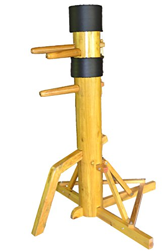 AUGUSTAPRO Wing Chun Wooden Dummy with SOLID Wooden Body on Tripod Base