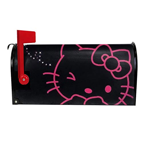 Duwamesva Funny Mailbox Cover Lovely Hello Kitty Print Magnetic Mail Cover Post Letter Box Cover Home Garden Decor]()