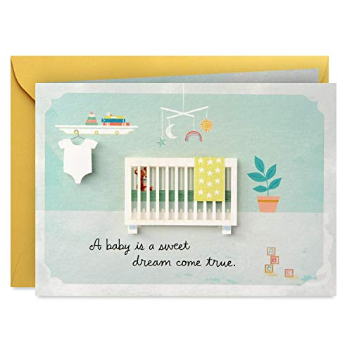 Hallmark Paper Wonder Pop Up Baby Shower Card (Sweet Dream Come True) -