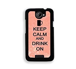 Keep Calm And Drink On - Coral Floral - Protective Designer WHITE Case - Fits Apple iPhone 5 / 5S