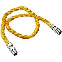 BRASSCRAFT BSSCSSD4436, Gas Range and Gas Furnace Flex-Line (1/2-Inch Odx36-Inch, 1/2-Inch Mipx1/2-Inch MiP, up to 71,100 Btu)
