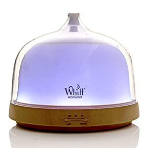 Essential Oil Diffuser 7 Color LED 200ml Ultrasonic Aromatherapy Diffuser Auto Shut Off Various Mist Modes Humidifier and Night Light Aroma Bell Whiff