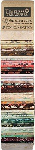 Tan Quilting Sewing Craft Fabric - Judy & Judel Niemeyer Quiltworx Tonga Batiks Heirloom Strips 48 2.5-inch Strips Timeless Treasures
