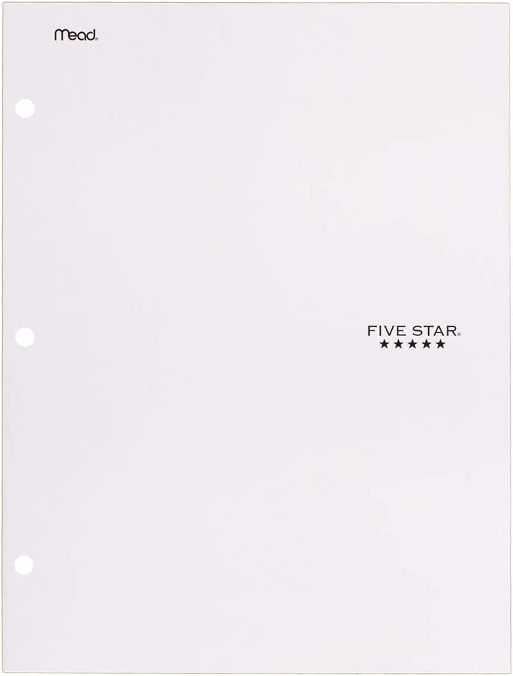 Five Star 4 Pocket Folder, 2 Pocket Folder Plus 2 Additional Pockets, White (72893)