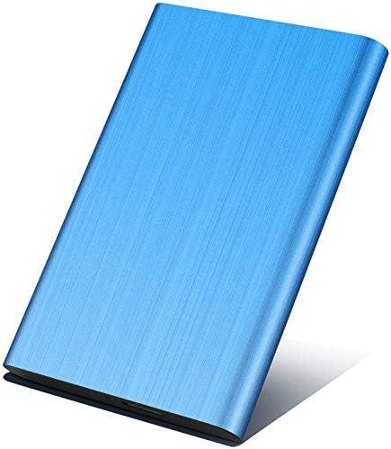 Externe Festplatte, 1 TB, 2 TB, tragbar, schmal, externe Festplatte, Datenspeicher, kompatibel mit PC, Desktop, Laptop, Mac blau 2 TB