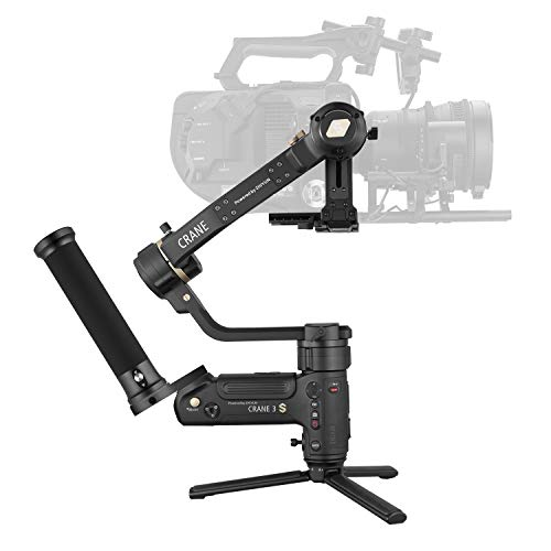 Zhiyun Crane 3S [Official] Easysling Kit 3-Axis Handheld Gimbal Stabilizer for DSLR Cameras and Camcorder (with Easysling Handle)