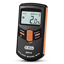 [Upgraded Version] Dr.Meter® MD918 Inductive Pinless Tools Intelligent Moisture Meter Digital Moisture Meter For Wood(Range 4% - 80% RH; Accuracy: 0.5%)