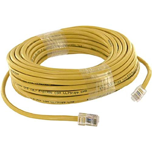 (Patch Cord; 50 Ft; Cat5e; Non Booted; Yellow; UL Listed, Pack of 2)