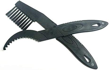 Feketeuki Conception Pratique V/élo R/éparation Brosses De Machine Set Doutils De Lavage VTT Kits Doutils De Nettoyage V/élo Cha/îne Cleaner Flywheel Brush-Black