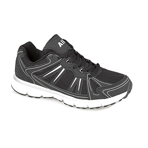Mens Low Top Trainers Running Casual Summer Lace Up Gym Walking Sport Shoe Size Black/White 0MAduN8GX