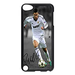 Sport Real Madrid Club de Futbol Cristiano Ronaldo Print Black Case With Hard Shell Cover Protective Case 159 FOR Ipod Touch 5 At ERZHOU Tech Store