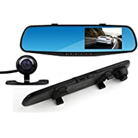Dash Cam Lexxson Dual Lens Car Camera 4.3 Full HD Car Vehicle Dashboard Camera Video Recorder For Vehicles Front and Rear DVR L2010