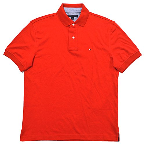fan products of Tommy Hilfiger Mens Classic Fit Interlock Polo Shirt (Medium, Flame Scarlet)