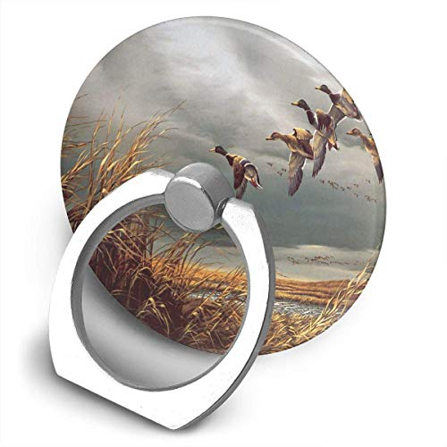 Terry Redlin Duck Paintings Round Phone Finger Ring Holder Stand Compatible 360Rotation Cell Phone Ring Kickstand