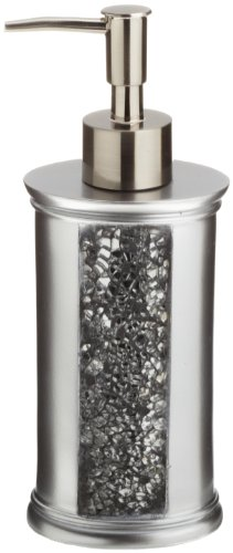 Popular Bath Soap Dispenser/Lotion Pump, Sinatra Collection, Silver