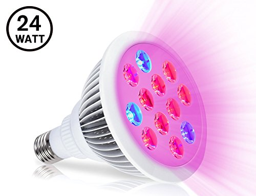 41eq1PeKtrL - LED Plant Grow Light,Oak Leaf Plant Bulb High Efficient LED Grow Lights Growing and Flowering Lighting for Indoor Garden and Hydroponic Plants