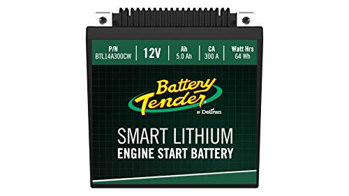 Battery Tender BTL14A300CW Supersmart BMS Lithium Battery, 12V 5.0Ah, 300CCA, ()