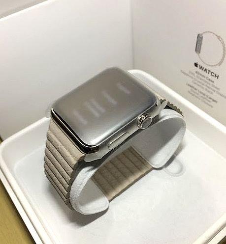 Apple Watch 42mm Mサイズ MJ402J/A [ライトブラウンレザーループ]の商品画像