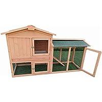 Medium Wooden Chicken Coop Rabbit Hutch Guinea Pig Ferret Cage