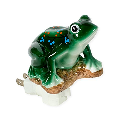 - Frog 3 x 4.5 Porcelain Electric Wall Swivel Plug-In Night Light