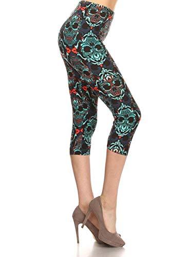 R842-CA-3X5X Green Envy Capri Print Leggings