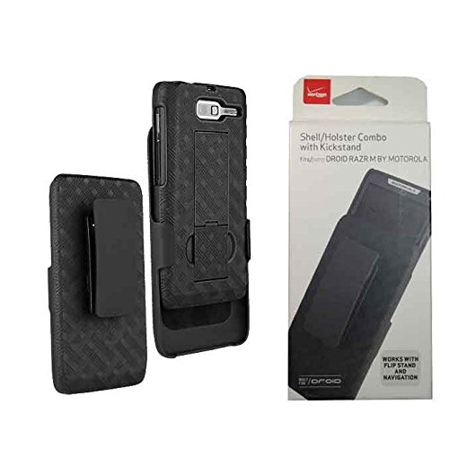 Shell Belt Clip Holster Combo Case and Kick Stand for VZW Motorola Droid Razr M M XT907 Razr M XT 907