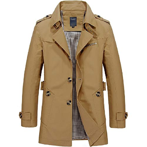 Jacket Straps Trench Luxury 2 Cotton Cotton Men's XINHEO Coat Fitted Clothes qO8xF