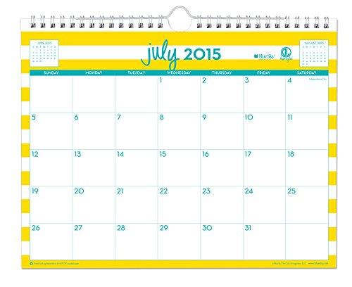 July 2015 - June 2016 Dabney Lee Cabana Wall Calendar 11x8.75