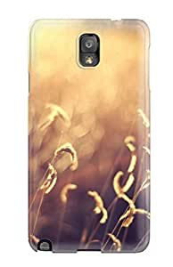 Fashion Tpu Case For Galaxy Note 3- Out Of Focus Golden Field Defender Case Cover