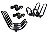2 X TMS 2 Pairs J-Bar Rack HD Kayak Carrier Canoe Boat Surf Ski Roof Top Mount Car SUV Crossbar