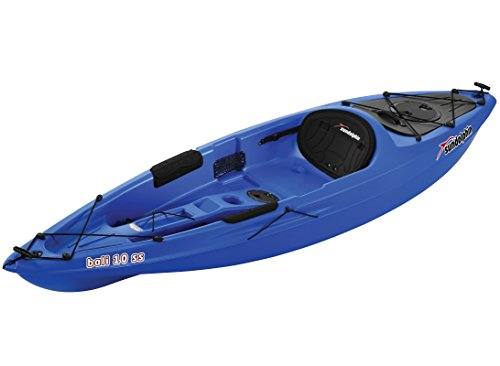 Sun Dolphin 51925 Bali SS Sit-on top Kayak (Blue, 10-Feet) (Sit Kayak On Pelican)
