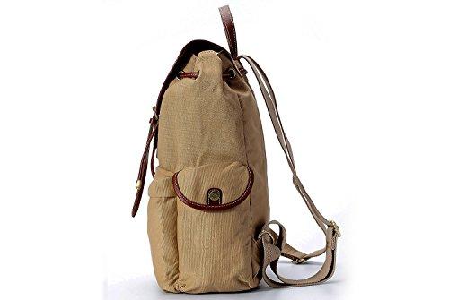 La Poet - Bolso mochila  para mujer Beige verde oliva (Olive) caqui