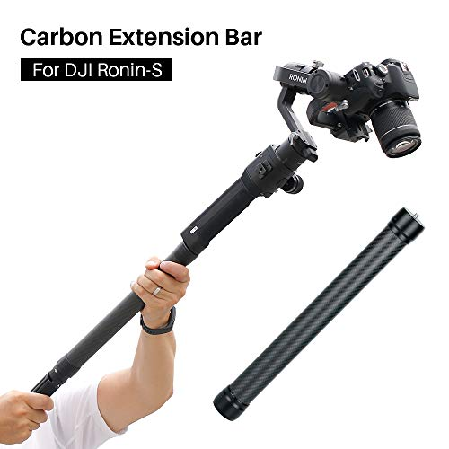 "AgimbalGear DH10 Upgrade Gimbal Extension Pole Carbon Fiber Bar Lightweight but Strong 1/4"" Universal Rod Compatible with DJI Ronin S, Ronin SC, OSMO Mobile 3, ZHIYUN Crane 2 V2 Stabilizer DSLR Camera"