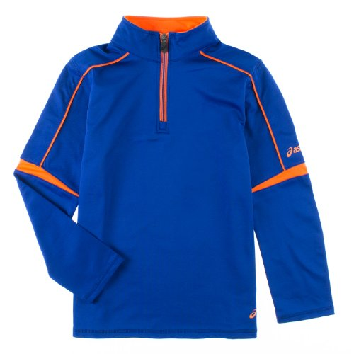 Asics Youth 1/4 Zip Pullover Jacket (Blue, Small) by ASICS