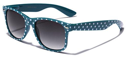 Turquoise Polka Dot (Polka Dot Retro Fashion Wayfarer Sunglasses - 100% UV400 - Turquoise)